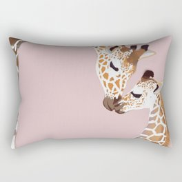 Giraffe mother and baby Rectangular Pillow
