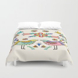 Papel Picado Birds Duvet Cover