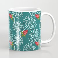 virginia Mugs featuring Virginia Rose by Holly Helgeson