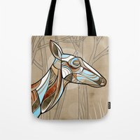 elk Tote Bags featuring Elk by dchristo