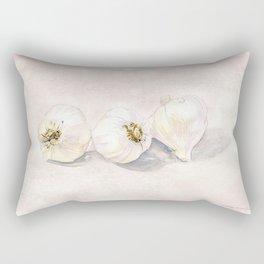 Garlic Watercolor Rectangular Pillow