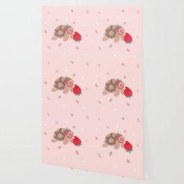 Tortoises love strawberries Wallpaper