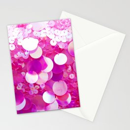 Paillettes Stationery Cards