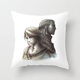 The Witcher 3 - Ciri / Geralt Artwork Throw Pillow