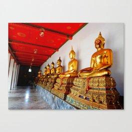 Golden Buddha at Wat Pho Temple Bangkok Thailand Canvas Print