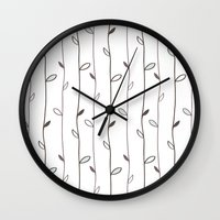 calendars Wall Clocks featuring Spring Pattern by Shabby Studios Design & Illustrations ..