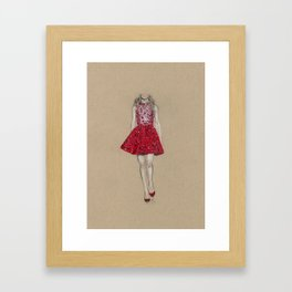 Zuhair Murad Mini Red  Framed Art Print