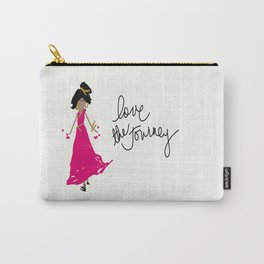 Love The Journey Girl in Pink Carry-All Pouch