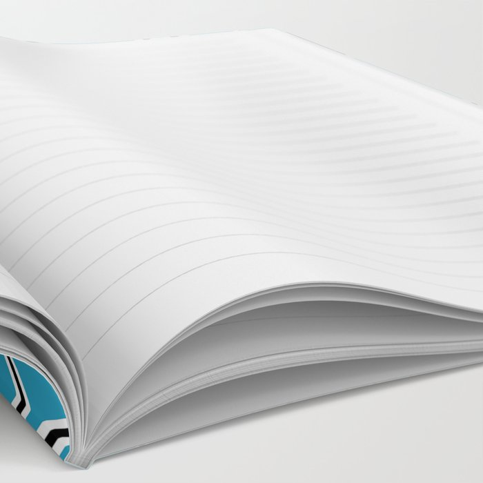 Shattered Ab Blue Notebook