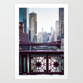 Chicago River Walk Art Print