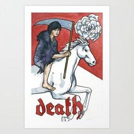 Death Tarot Art Print