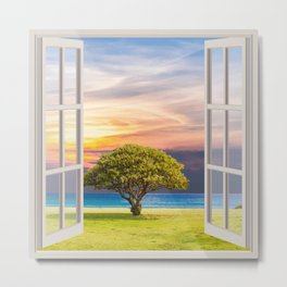 Seashore View | OPEN WINDOW ART Metal Print