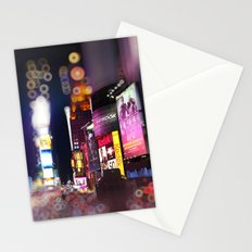 Times Square Blurrr-Bokeh Stationery Cards