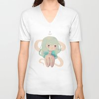 siren V-neck T-shirts featuring Siren Song by Nan Lawson