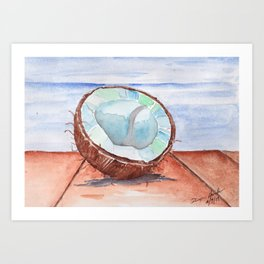 Coconut Sunday Art Print