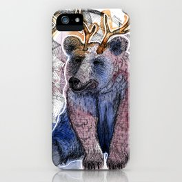 Bear relaxed iPhone Case