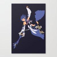 kingdom hearts Canvas Prints featuring Kingdom Hearts - Aqua by TracingHorses