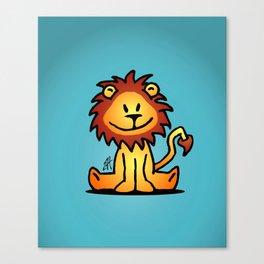 Cute little lion Canvas Print