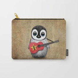 Baby Penguin Playing Vietnamese Flag Guitar Carry-All Pouch
