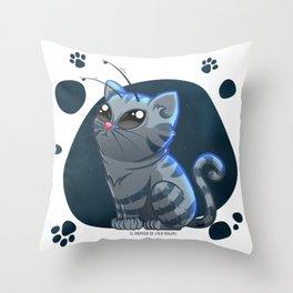 Alien Cat 01 Throw Pillow