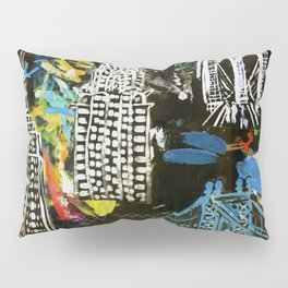 New York City Buildings at Night Pillow Sham