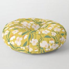 Vintage Inspired Floral Floor Pillow