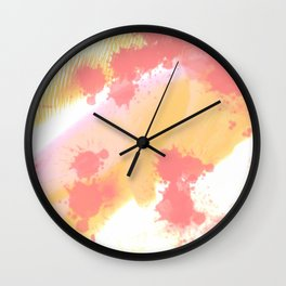 Sweet colors Wall Clock