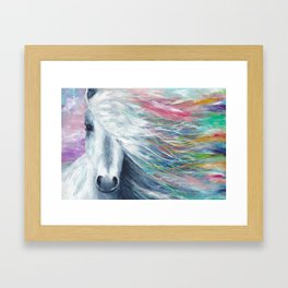 Rainbow Horse Framed Art Print