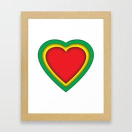 One love, one heart Framed Art Print