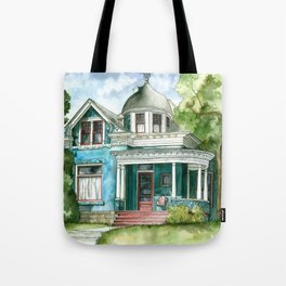 The House with Red Trim Tote Bag