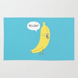 Banana on the phone Rug
