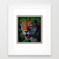jaguar Framed Art Prints featuring Jaguar by elkart51