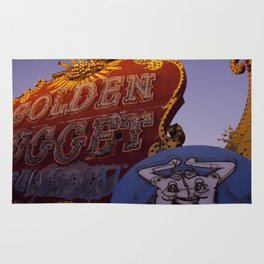Golden Nugget Sign Rug