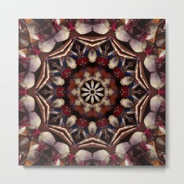 "Un ""beetable"" vegetable mandala Metal Print"