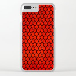 Mermaid Scales - Red Clear iPhone Case