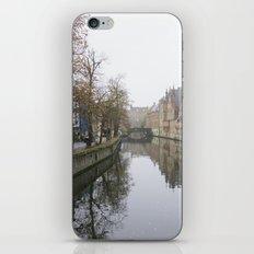 Brugge in the mist iPhone & iPod Skin