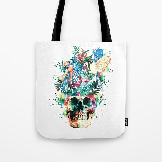 Skull - Parrots Tote Bag