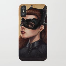 Cute Catwoman Painting  iPhone Case