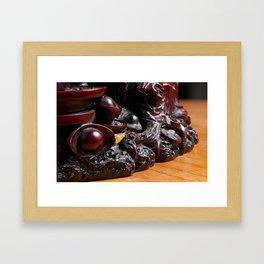 Wax Stack Focus Framed Art Print