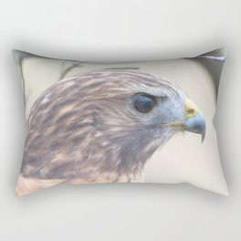 Watercolor Bird, Red-tailed Hawk 03, Middletown, Maryland, Backyard Mice Beware! Rectangular Pillow