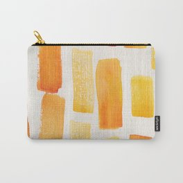 Stripe Burnt Orange | 190213 Watercolour Abstract Painting Carry-All Pouch