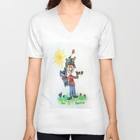 you are my sunshine V-neck T-shirts featuring :: You Are My Sunshine :: by :: GaleStorm Artworks ::