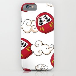 Cute Daruma Pattern iPhone Case
