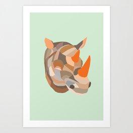 URBAN RHINO Art Print