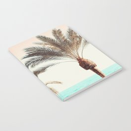 Modern California Vibes pink sky blue seascape tropical palm tree beach photography Notebook