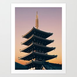 Five-Storied Pagoda at Sensoji Fine Art Print Art Print