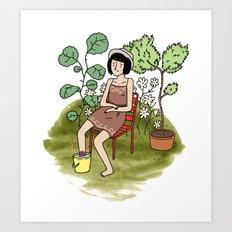 Le Jardin. Art Print