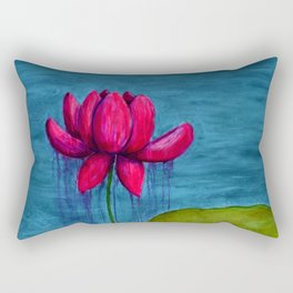 Pink Lotus Rectangular Pillow