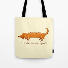 This is not a baguette Tote Bag