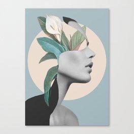 Floral Portrait /collage Canvas Print